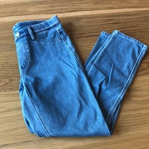 Uniqlo Light Wash Cropped Denim Leggings